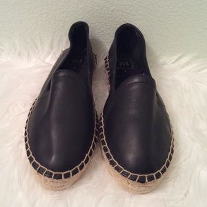 Gap black leather slip on espadrilles. Really nice
